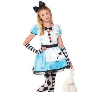 Child Alicia's wonderland Costume Dress GUC